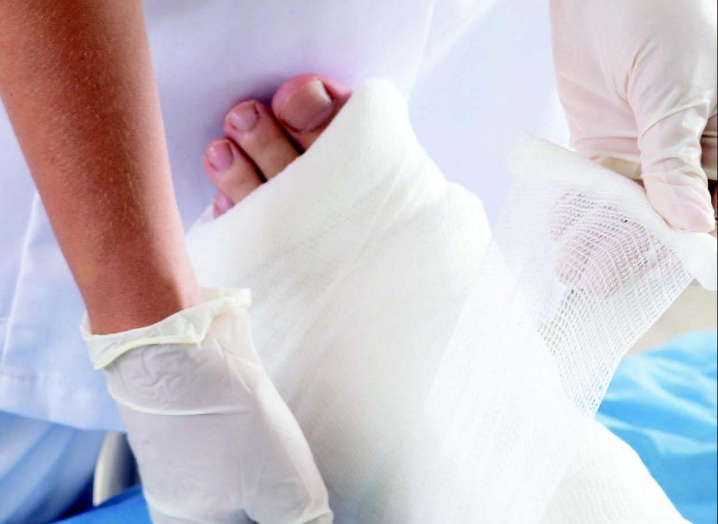 diabetic foot ulcer bandage